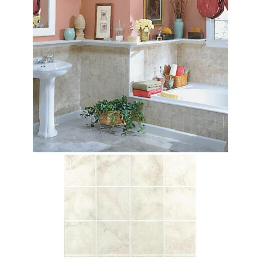 DPI AquaTile 4 Ft. x 8 Ft. x 1/8 In. Beige Milan Marble Tileboard Wall Tile