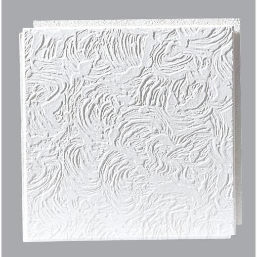 BP Silencio Caravel 12 In. x 12 In. White Wood Fiber Nonsuspended Ceiling Tile (32-Count)