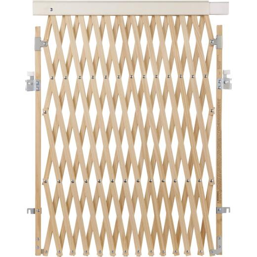 North States 60 In. Expandable Natural Wood Safety Gate