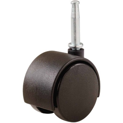 Do it 1-5/8 In. Dia. Brown Twin Wheel Caster with 1-1/2 In. Stem (2-Pack)