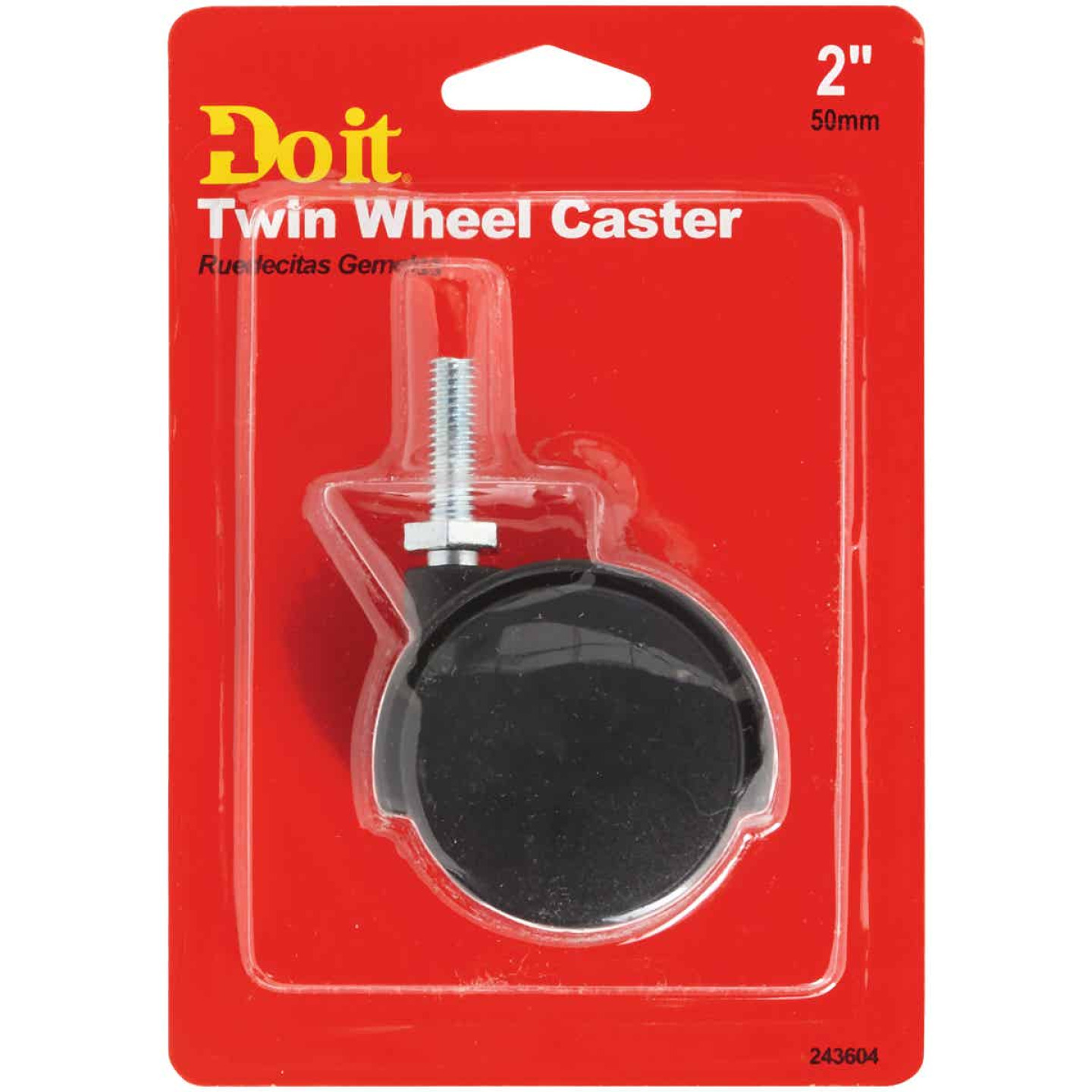 Do it 2 In. Dia. Black Twin Wheel Caster with 1 In. Stem (1-Count) Image 2