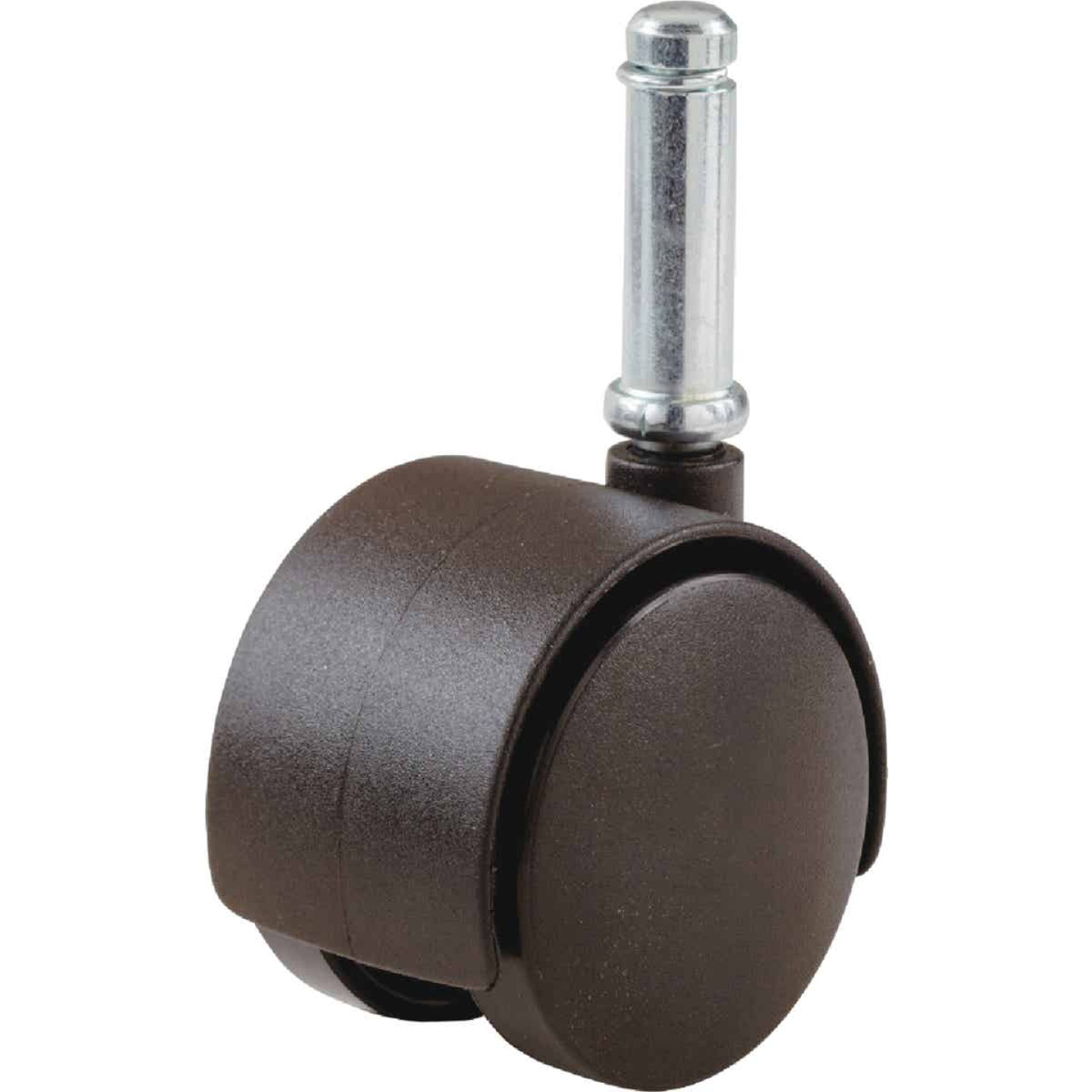 Do it 2 In. Dia. Brown Twin Wheel Caster with 7/8 In. Stem (1-Count) Image 1