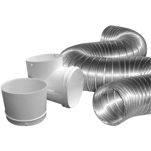 Dundas Jafine Semi-Rigid Aluminum Dryer Hose Kit (3-Piece)