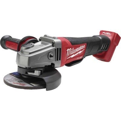 Milwaukee M18 FUEL 18 Volt Lithium-Ion 4-1/2 In. - 5 In. Brushless Cordless Angle Grinder, Paddle Switch No-Lock (Bare Tool)