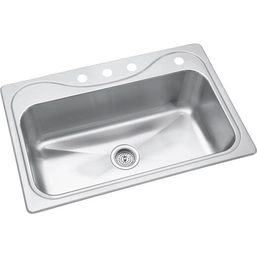 Sterling Southhaven Single Bowl 33 In. x 22 In. x 9 In. Deep Stainless Steel Kitchen Sink