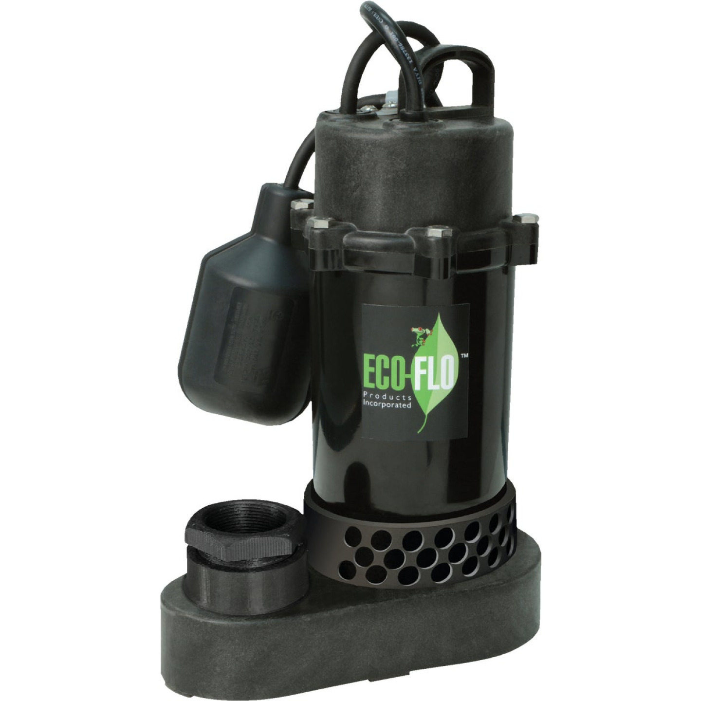 ECO-FLO 1/3 HP Wide Angle Switch Submersible Thermoplastic Sump Pump Image 1