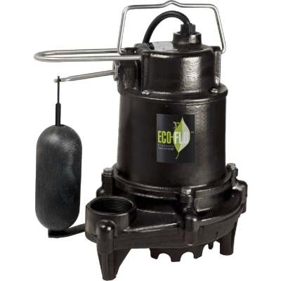 ECO-FLO 1/3 HP High Efficiency Cast Iron Submersible Sump Pump