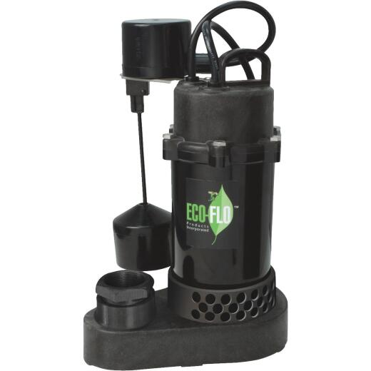 ECO-FLO 1/3 HP Vertical Switch Submersible Thermoplastic Sump Pump