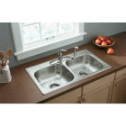 Elkay Double Bowl 33 In. x 19 In. x 6 In. Deep Satin Stainless Steel Kitchen Sink Image 2