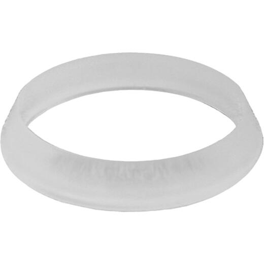 Jones Stephens 1-1/2 In. x 1-1/2 In. White Polyethylene Slip Joint Washer (100 Pack)