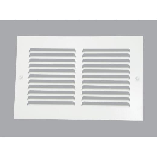 Home Impressions 6 In. x 10 In. Stamped Steel Return Air Grille