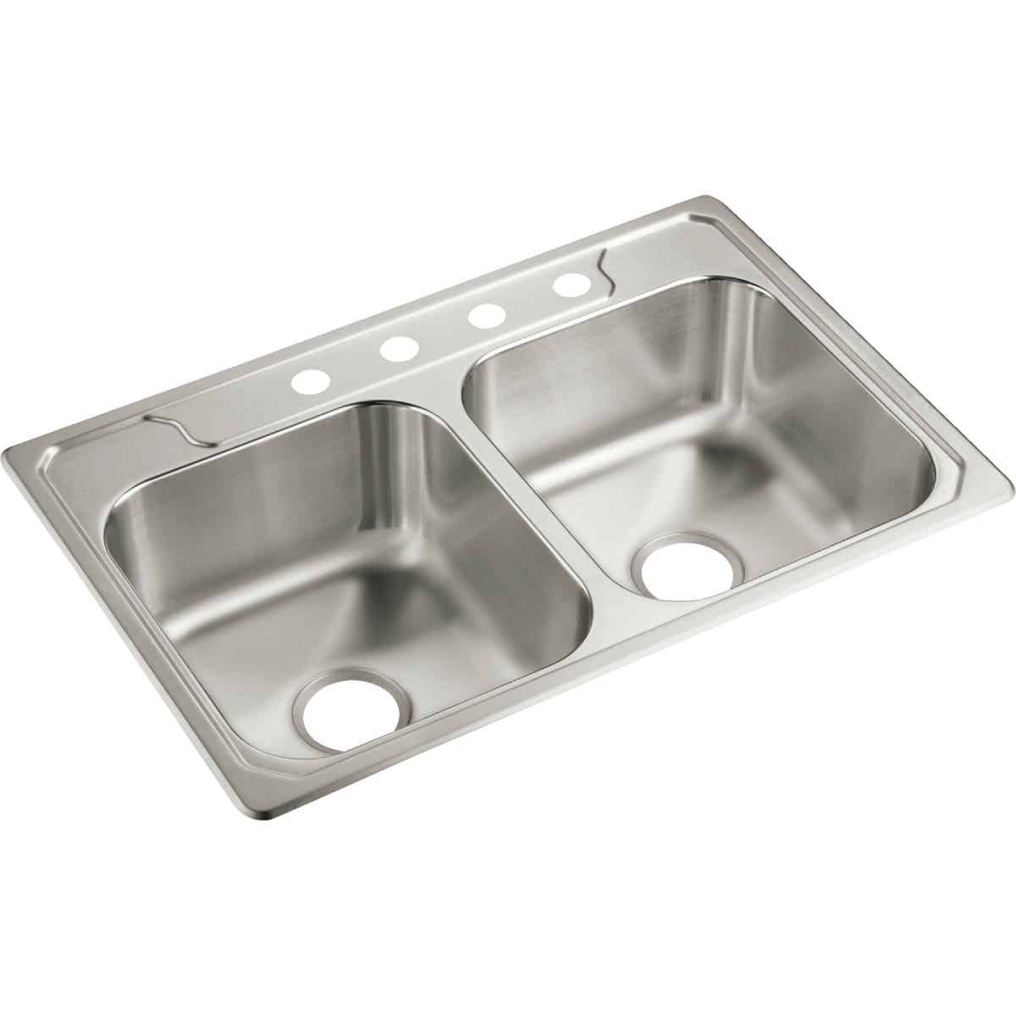Sterling Middleton Double Bowl 33 In. x 22 In. x 7 In. Deep Stainless Steel Kitchen Sink Image 1