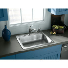 Elkay Single Bowl 25 In. x 22 In. x 6 In. Deep Stainless Steel Kitchen Sink Image 2