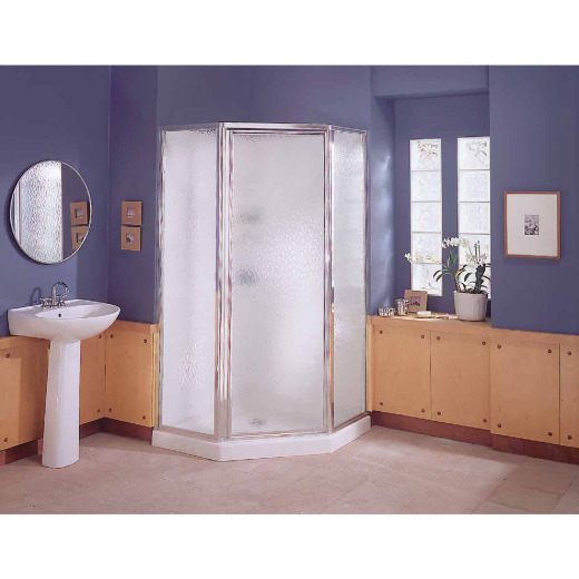 Sterling 38 In. W x 76 In. H White Polypropylene Shower Stall