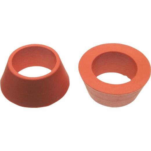 Danco 7/8 In. x 1/2 In. Orange Rubber Slip Joint Washer