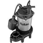 Flotec 1/2 H.P. 115V Submersible Sump Pump with Teathered Switch Image 1