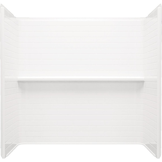 Sterling Traverse 4-Piece 60 In. x 30 In. Tub Wall Kit in White (Subway Tile Pattern)