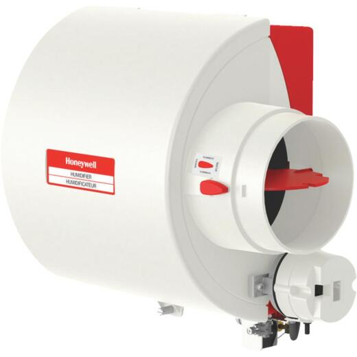 Honeywell 10.94 In. W. x 12.75 In. H. x 9 In. D. Whole House Flow-Thru Bypass Furnace Humidifier
