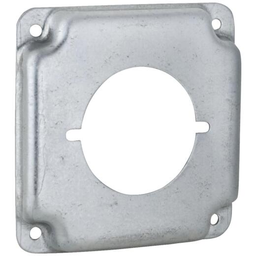 Raco 2.156 In. Dia. Receptacles 4 In. x 4 In. Square Device Cover