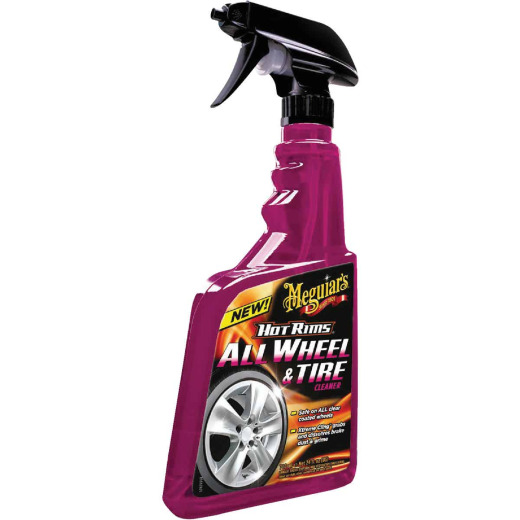 Meguiars Hot Rims 24 Oz. Trigger Spray Wheel Cleaner
