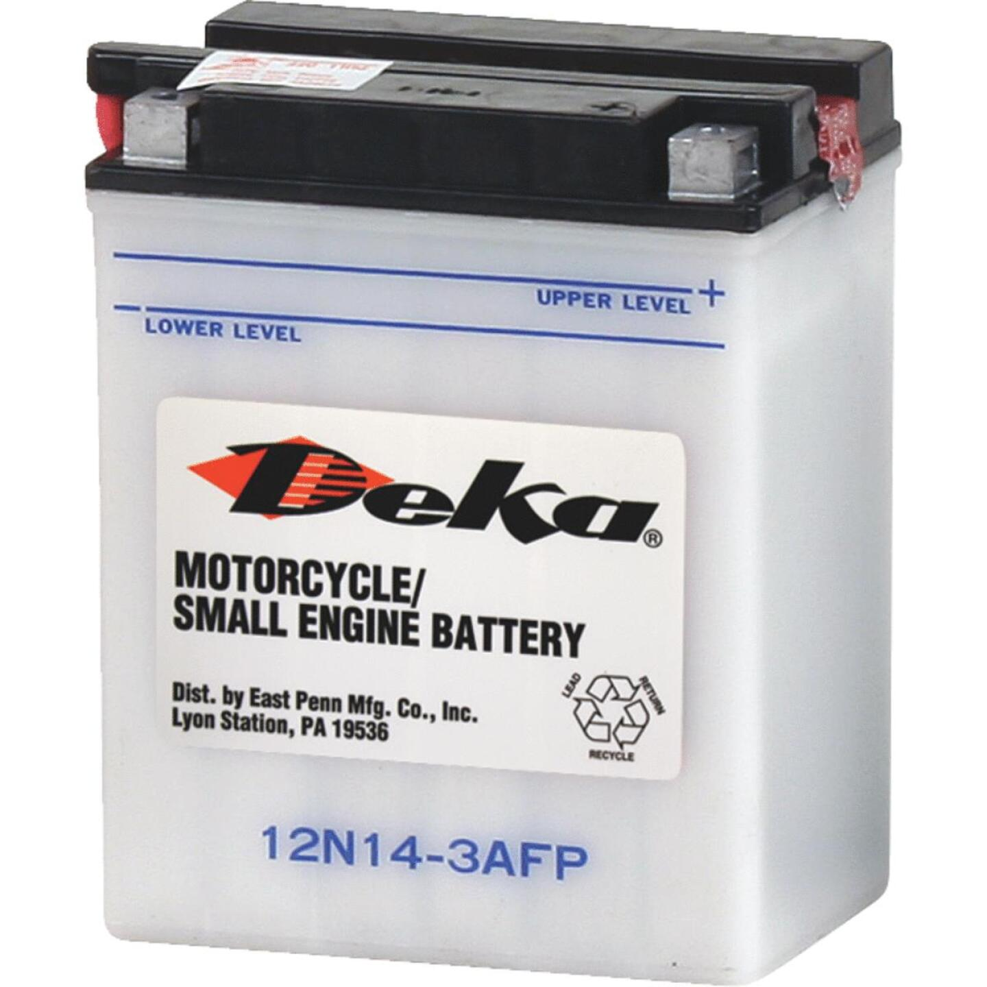 Deka 12-Volt 128 CCA Powersport Battery, Right Front Positive Terminal Image 1
