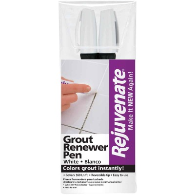 Rejuvenate Grout Renewer Pen, White (2 Count)