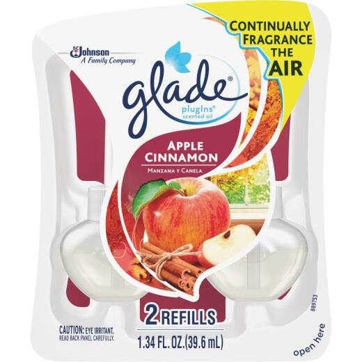Glade PlugIns Apple Cinnamon Scented Oil Refill (2-Count)