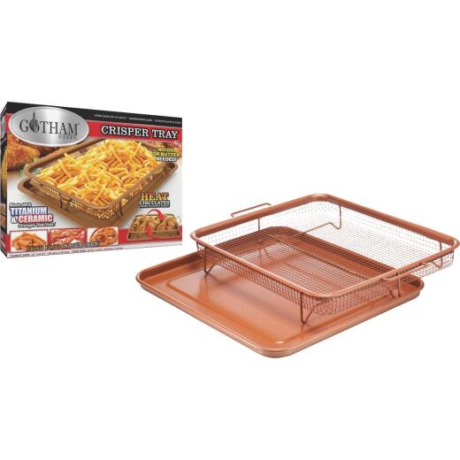 Gotham Steel Copper 9 In. x 12 In. Non-Stick Crisper Tray Baking Pan