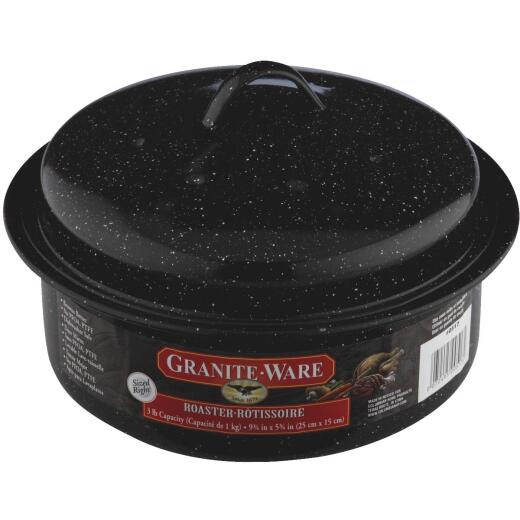 GraniteWare 3 Lb. Black Covered Round Roaster