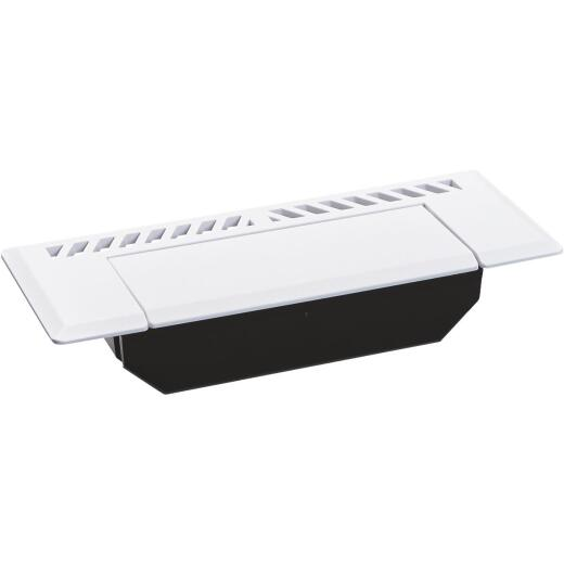 Skampcan 4 In. x 10/12 In. White Vented Floor Register Containment System