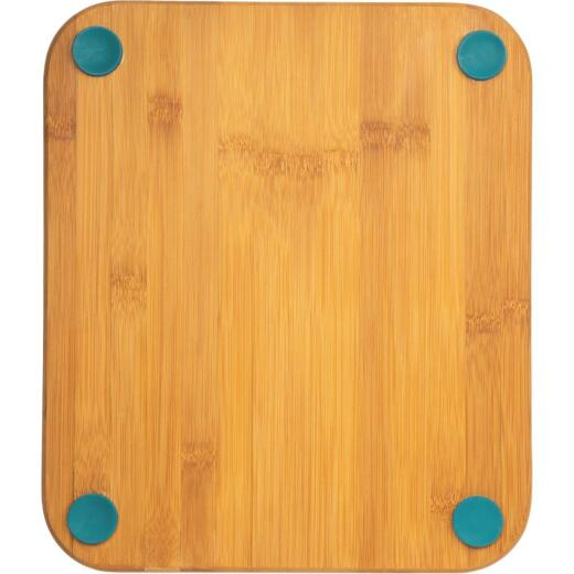 Core Natural Bamboo Lake Blue 12 In. Foot Grip Cutting Board