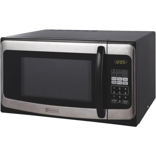 Perfect Aire 1.1 Cu. Ft. Black Countertop Microwave