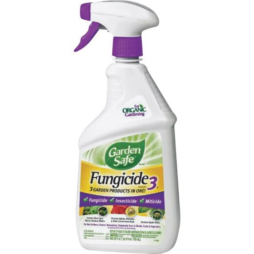 Garden Safe Fungicide 3 24 Oz. Ready To Use Trigger Spray Fungicide