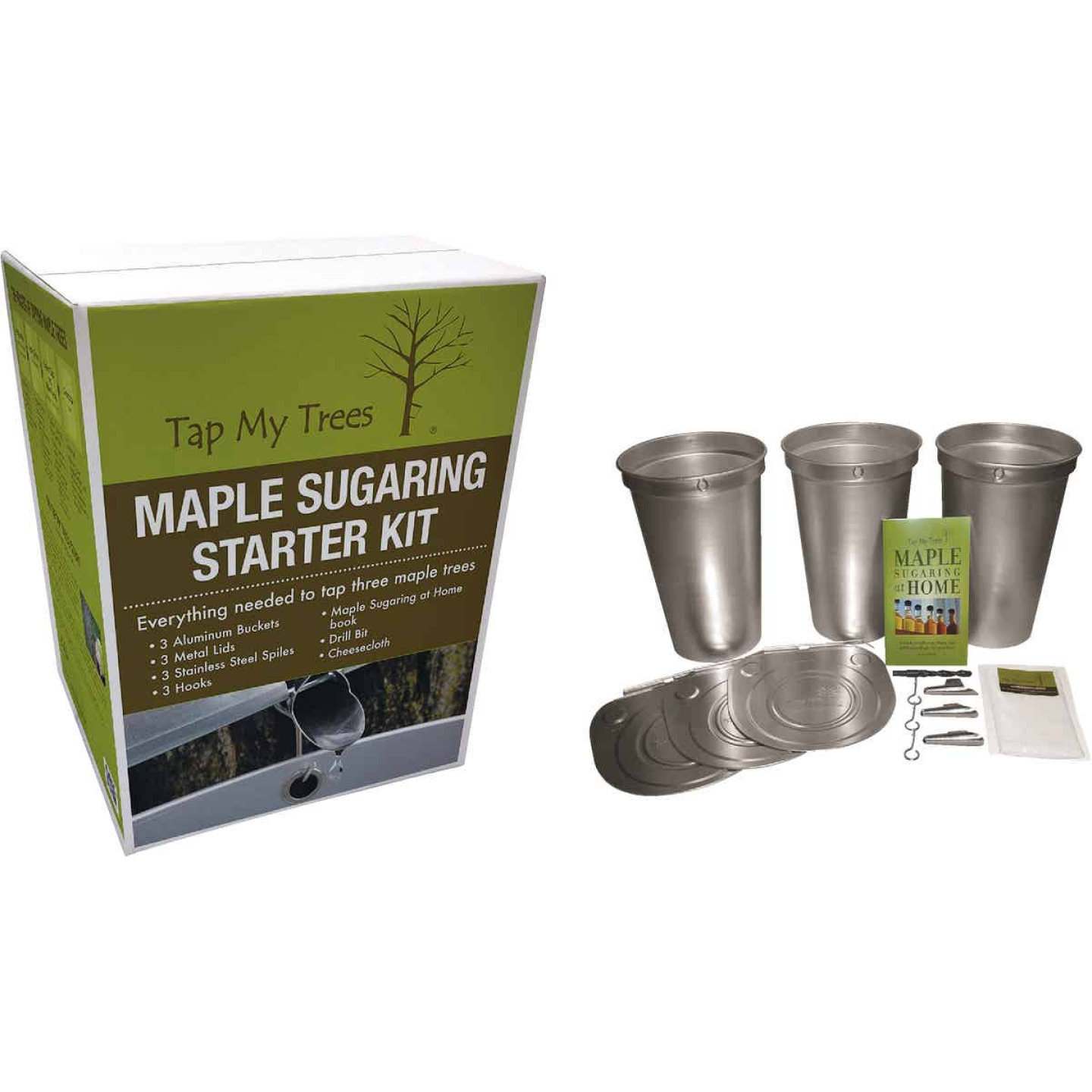 Tap My Trees Maple Sugaring Aluminum & Stainless Steel Starter Kit Image 1