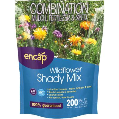 Encap All-In-One 2 Lb. 200 Sq. Ft. Coverage Shady Wildflower Seed Mix