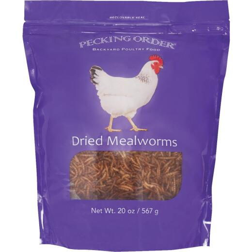 Pecking Order 20 Oz. Dried Mealworms Chicken Treat
