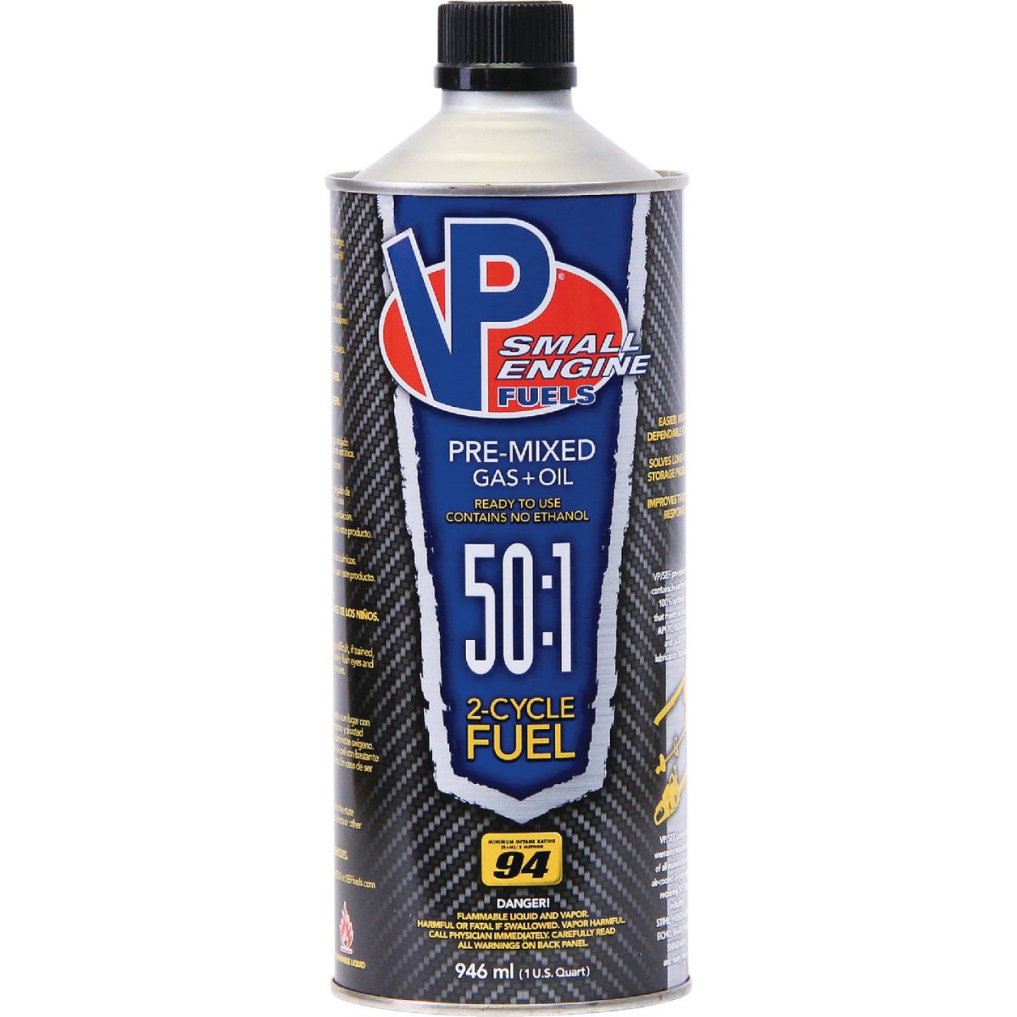 VP Small Engine Fuels 32 Oz. 50:1 Ethanol-Free Gas & Oil Pre-Mix Image 1