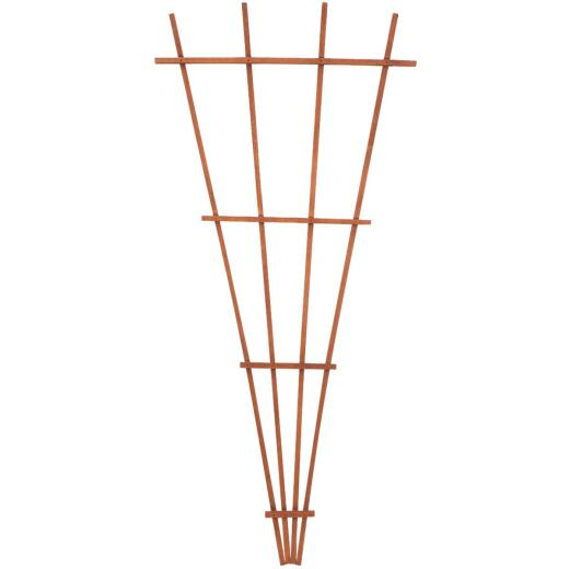 Panacea 72 In. Brown Wood Fan Trellis