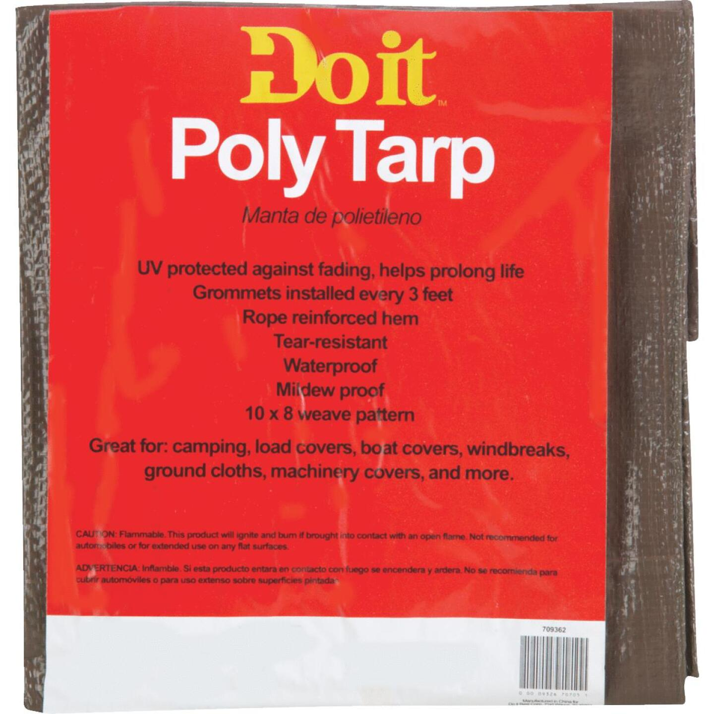 Do it Green/Brown Woven 5 Ft. x 7 Ft. Medium Duty Poly Tarp Image 2