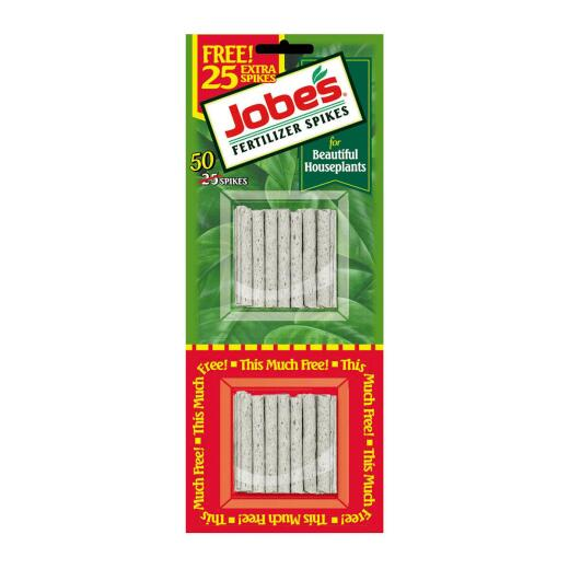Jobe's 13-4-5 Houseplant Food Spikes (50-Pack)