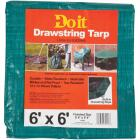 Do it 6 Ft. x 6 Ft. Poly Fabric Green Lawn Cleanup Tarp Image 1