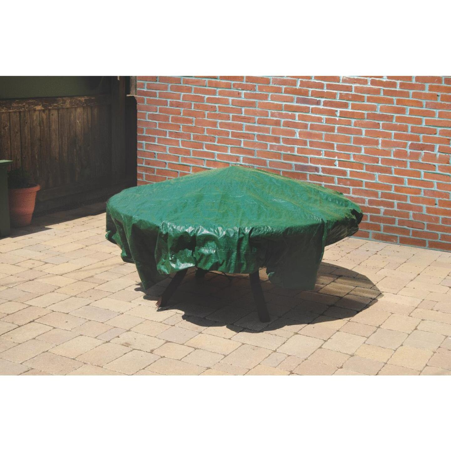 Do it 6 Ft. x 6 Ft. Poly Fabric Green Lawn Cleanup Tarp Image 6