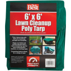 Do it Best  6 Ft. x 6 Ft. Poly Fabric Green Lawn Cleanup Tarp Image 1