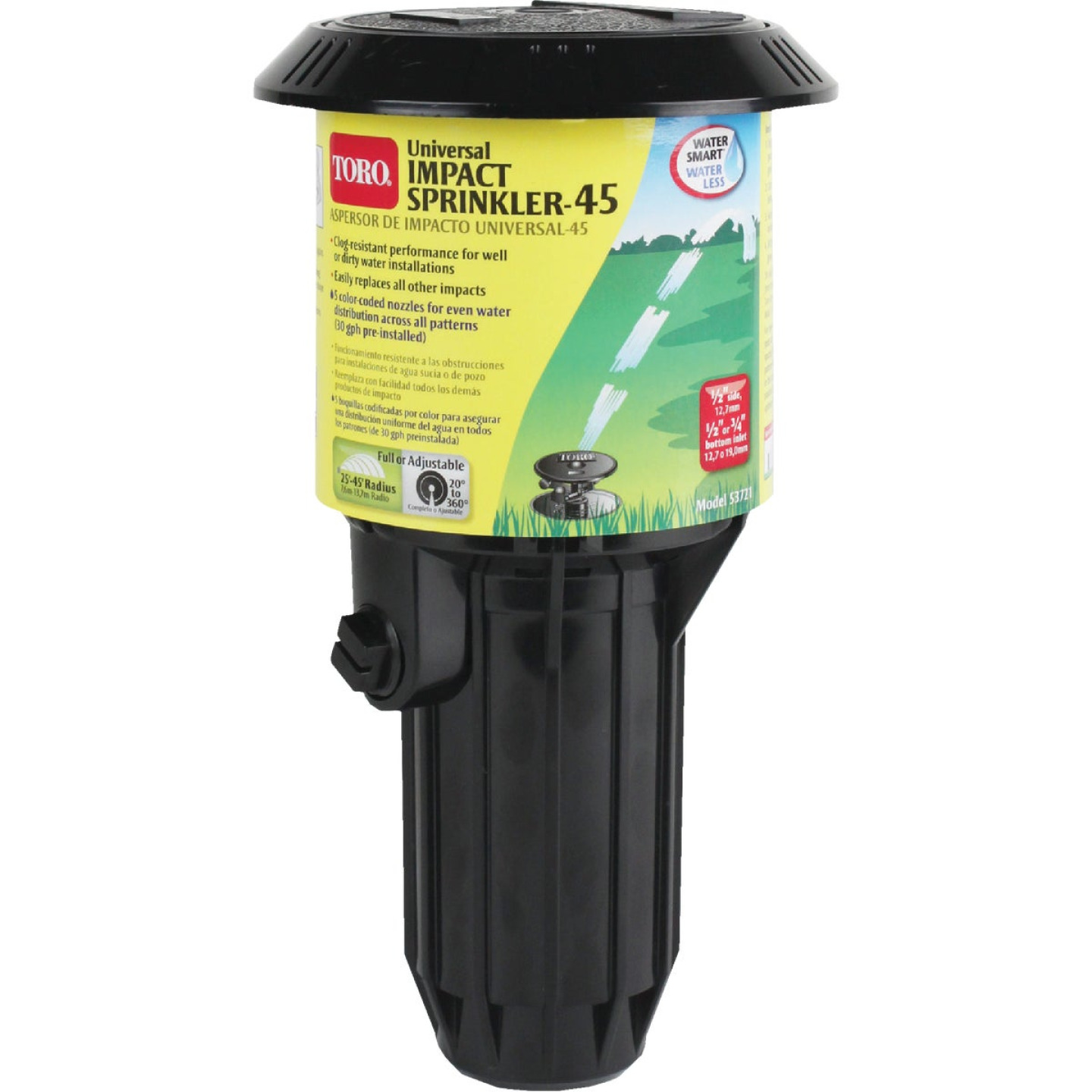 Toro 3 In. 20 Deg. to 340 Deg. Universal Pop-Up Impact Head Sprinkler Image 1