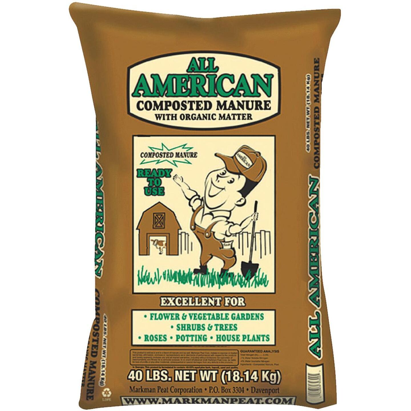 All American 40 Lb. Cow Manure Image 1