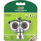 Best Garden Metal 30 Ft. Dia. Twin Spot Stationary Sprinkler, Metallic Image 3