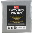Do it Best Silver Woven 8 Ft. x 10 Ft. Heavy Duty Poly Tarp Image 1