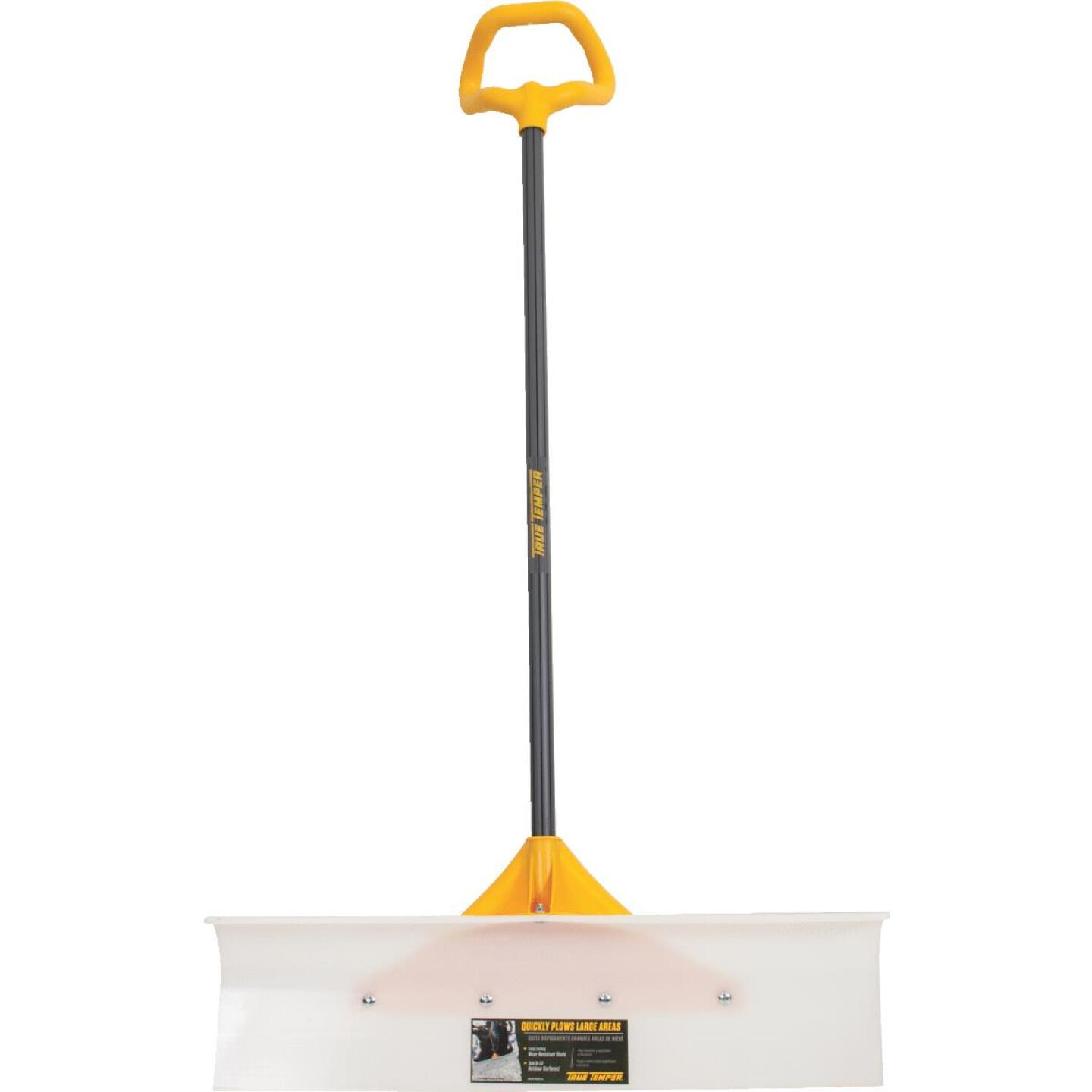 True Temper 30 In. Nylon Snow Pusher with 42 In. Steel Handle Image 1