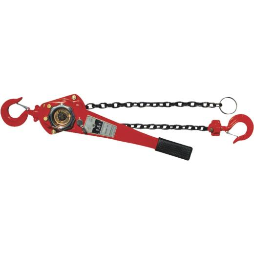 American Power Pull 1-1/2-Ton Load Capacity 5 Ft. Standard Lift Chain Puller