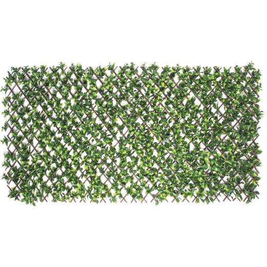 Naturae Decor Priva Hedge Willow Trellis with Gardenia Leaves